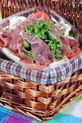 Stock Photo of parma ham salad