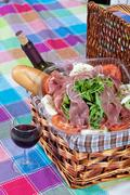 parma ham salad - stock photo