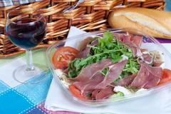 Parma ham salad Stock Photos
