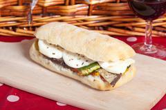 Vegetarian sandwich Stock Photos
