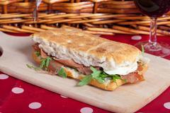 Focaccia sandwich Stock Photos