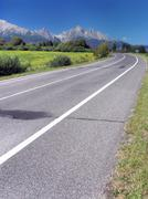 Road to High Tatras in summer - stock photo