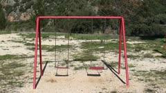 Empty swings Stock Footage