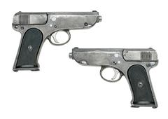 jaeger-pistol model 1914 - stock photo