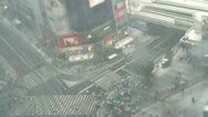 TOKYO - TILT - Crowd at Shibuya Crossing under Snow - HD Stock Footage