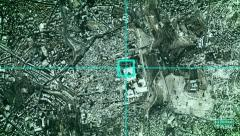 A satellite overview of Jerusalem - with aim Stock Footage
