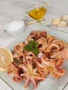 fried octopus - stock photo