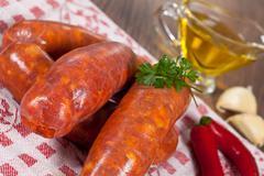 Stock Photo of raw italian sausage