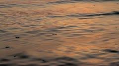 Sea waves on sunrise Stock Footage