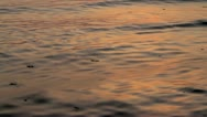 Stock Video Footage of Sea waves on sunrise