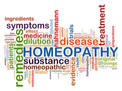 Word tags of homeopathy Stock Illustration