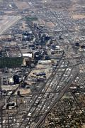 Las Vegas Strip Aerial - stock photo