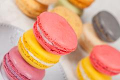 french macarons - stock photo