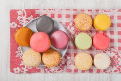 french macarons - stock photo