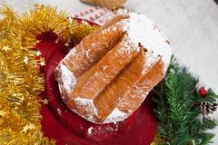 Christmas pandoro Stock Photos