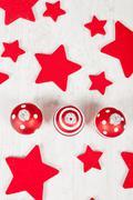 christmas balls and stars - stock photo