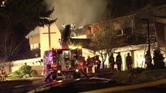 3 alarm church  fire Stock Footage
