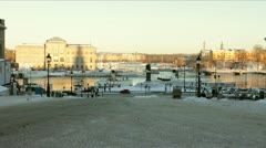 Near royal palace in stockholm Stock Footage