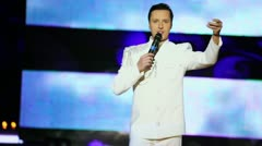 Vitas is in musical program on stage of Russian beauty - 2011 Stock Footage