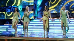Group Brilliants on stage of Russian beauty - 2011 contest Stock Footage