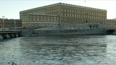 Royal Palace in Stockholm - stock footage
