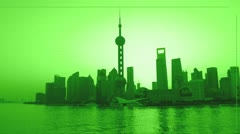 Comet hits shanghai Stock Footage