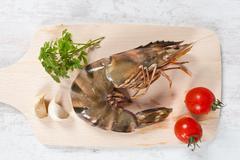 raw prawns - stock photo