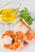 prawn tails - stock photo