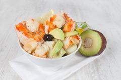 prawn salad - stock photo