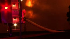 Structure fire smoke and flames Stock Footage