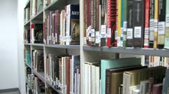 Bookcase corridor Stock Footage