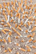 Cigarettes chaos from above Stock Photos
