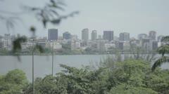 Beautiful landscape - Rio de janeiro, RJ. Lagoa Rodrigo de Freitas Stock Footage