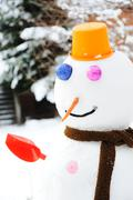 winter snowman, snow show - stock photo