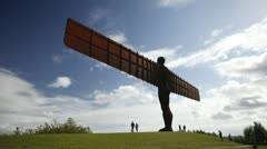 Time lapse of the Angel of the North  Stock Footage