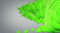 waving green spheres loop - stock footage