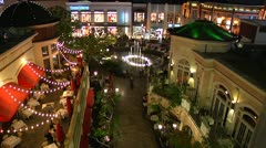 The Grove in Beverly Hills, CA Time Lapsed Stock Footage