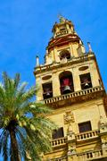 belfry of cathedral-mosque of cordoba, spain. - stock photo