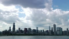 Chicago Skyline Time Lapse2 Stock Footage
