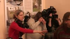 Film crew, journalists Stock Footage