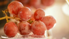 Red grapes rotating. Loop Stock Footage