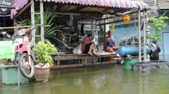 Thailand Ayutthaya Flood 9707 Stock Footage