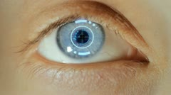 Biometric Eye Scan - stock footage