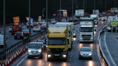 M1 Motorway at rush hour Stock Footage