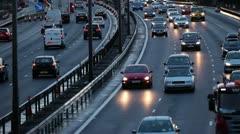 M1 Motorway at rush hour - stock footage