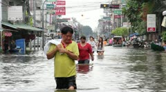 Thailand Ayutthaya Flood 9711 Stock Footage