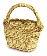 Basket in wattled from willow rods Stock Photos