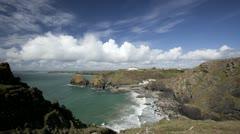 Cornwall coastline time lapse Stock Footage
