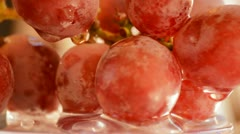 Red grapes, close up. Loop Stock Footage
