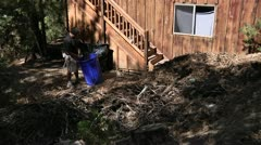 Two guys do yard work time lapsed Stock Footage